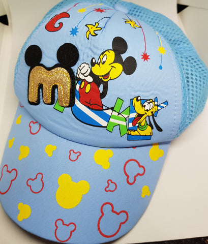 Baby Blue Mickey Cap - Three Bears Kids