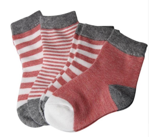 Socks - 4 Pack Ankle Red - Three Bears Kids
