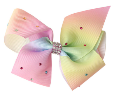 Big Bow 5 inch/12 cm Light Rainbow