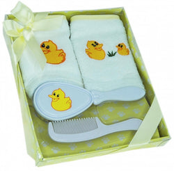 Elka 4 Piece Brush Gift Set - Yellow - Three Bears Kids