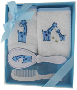 Elka 4 Piece Brush Gift Set - Blue