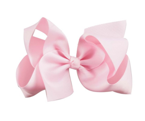Big Bow 6 inch/15 cm Baby Pink