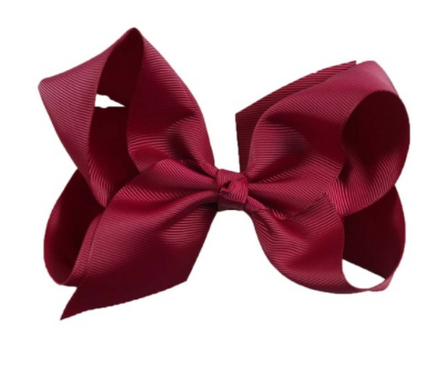 Big Bow 6 inch/15 cm Burgandy - Three Bears Kids