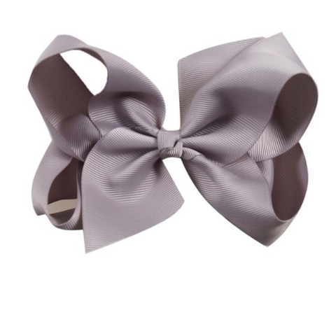 Big Bow 6 inch/15 cm Grey - Three Bears Kids