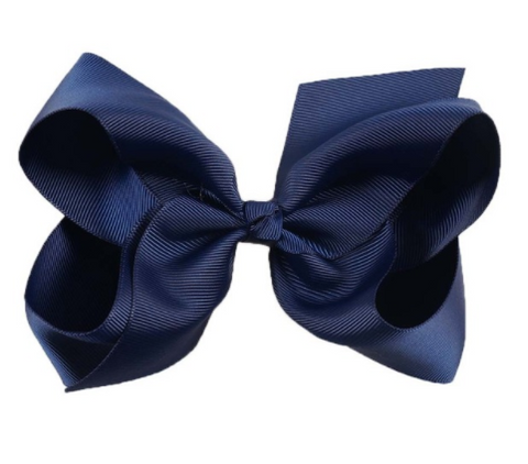 Big Bow 6 inch/15 cm Navy - Three Bears Kids