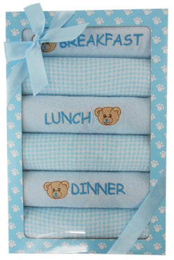 Elka 6 Day Meal Bib Set - Blue