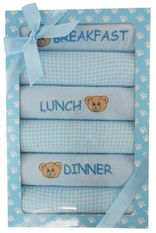Elka 6 Day Meal Bib Set - Blue - Three Bears Kids