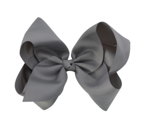 Big Bow 8 inch/20 cm Grey - Three Bears Kids
