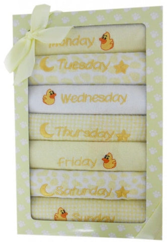 Elka Ducks 7 Bibs Set - Yellow - Three Bears Kids