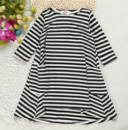 Abby Striped Dress - Three Bears Kids