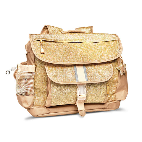 "Bixbee ""Sparkalicious"" Gold Backpack - LARGE 7 TO 12 Years - Three Bears Kids"