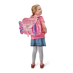 "Bixbee ""Sparkalicious"" Butterflyer Backpack Medium - Pink 5 To 7 Years"