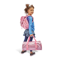 "Bixbee ""Sparkalicious"" Pink Backpack - MEDIUM 5 TO 7 Years"