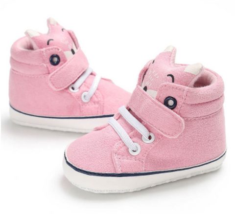 Fox Sneakers - Pink - Three Bears Kids