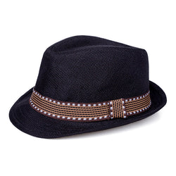 Jazzy Straw Hat - Black - Three Bears Kids