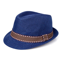 Jazzy Straw Hat - Blue - Three Bears Kids