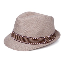 Jazzy Straw Hat - Tan - Three Bears Kids