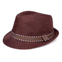 Jazzy Straw Hat - Brown - Three Bears Kids