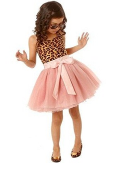 Dolly Leopard Pink Dress - Three Bears Kids