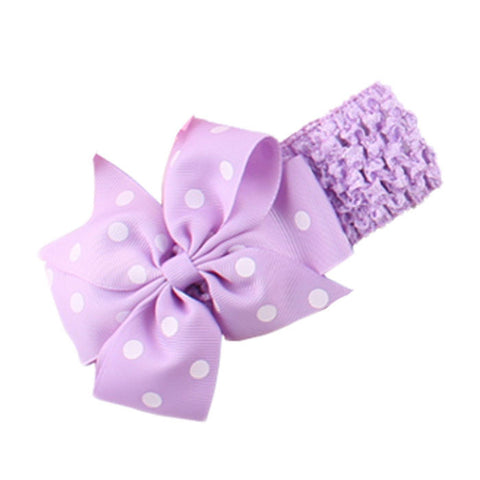 Dot Bow Headband - Mauve - Three Bears Kids
