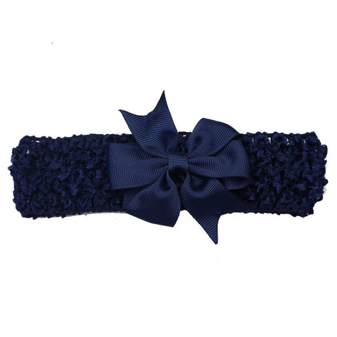 Bow Headband - Navy - Three Bears Kids