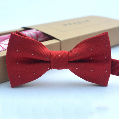 Bow Tie - Touch Of Glitter Red Wine - Three Bears Kids
