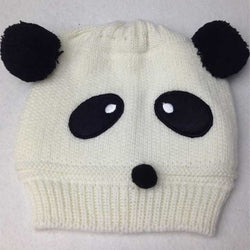 Beanie - Knitted Panda White - Three Bears Kids