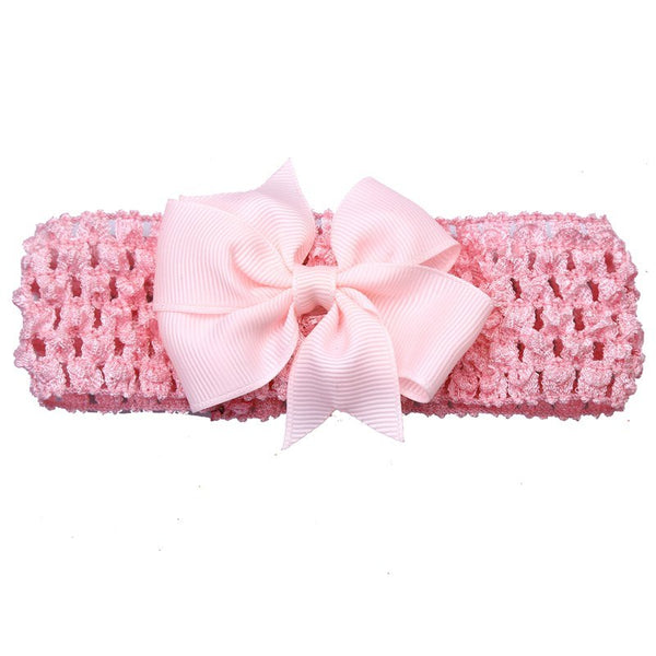 Bow Headband - Baby Pink - Three Bears Kids