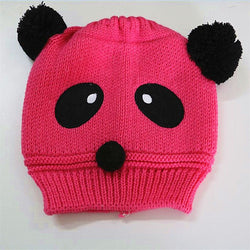 Beanie - Knitted Panda Pink - Three Bears Kids