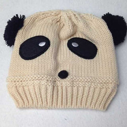 Beanie - Knitted Panda Beige - Three Bears Kids