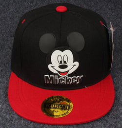 Black And Red Mickey Mouse Cap