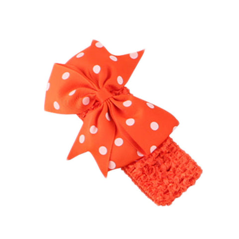 Dot Bow Headband - Orange - Three Bears Kids