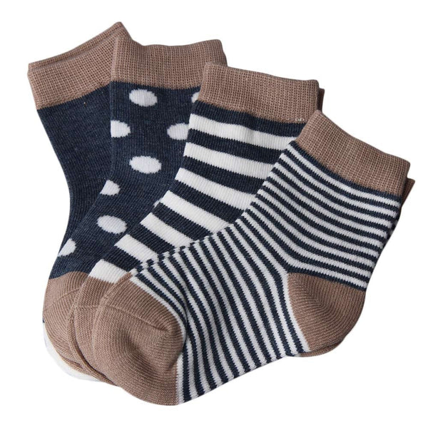 Socks - 4 Pack Ankle Navy - Three Bears Kids