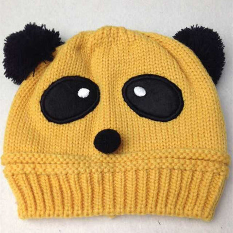 Beanie - Knitted Panda Mustard - Three Bears Kids
