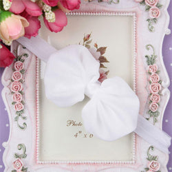 Chiffon Bow Headband - White - Three Bears Kids