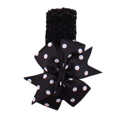 Dot Bow Headband - Black - Three Bears Kids