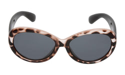 Mermaid Ugly Fish Sunglasses - Cheetah Print Black Frame/Smoke Lens - 3 to 11 Years