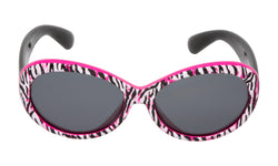 Mermaid Ugly Fish Sunglasses - Pink Tiger Print - Black Frame/Smoke Lens - 3 to 11 Years