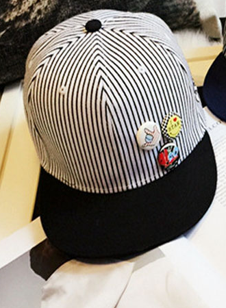 White And Black Striped Cap - Three Bears Kids