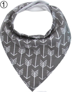 Bandana Bib - Grey Arrows