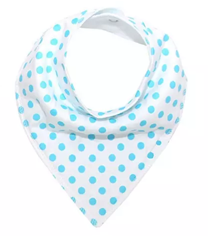 Bandana Bib - Baby Blue Dots - Three Bears Kids