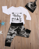 Baby Bear Romper 3 Piece Set With Beanie - Three Bears Kids