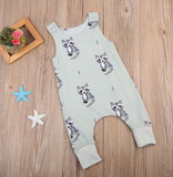 Baby Fox Romper - Mint Green - Three Bears Kids
