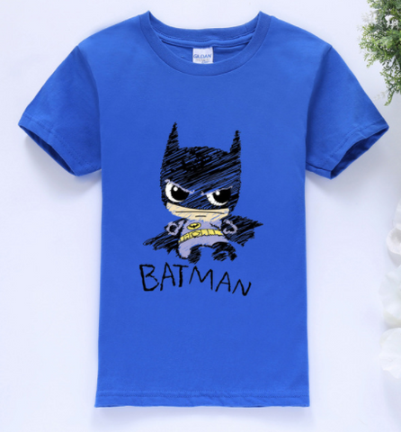 Batman T-Shirt BLUE  -  4 Years Plus - Three Bears Kids