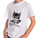 Batman T-Shirt WHITE  -  4 Years Plus - Three Bears Kids