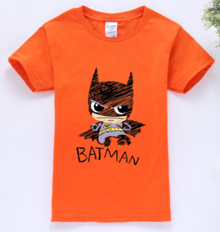 Batman T-Shirt ORANGE  -  4 Years Plus - Three Bears Kids