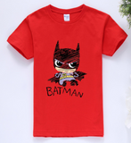 Batman T-Shirt RED  -  4 Years Plus - Three Bears Kids