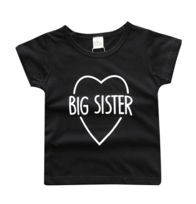 Big Sister Top - Black - Three Bears Kids
