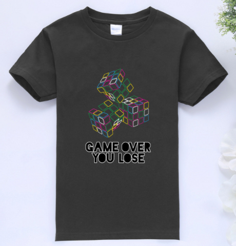 Game Over T-Shirt BLACK  -  4 Years Plus - Three Bears Kids