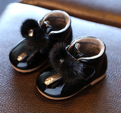 Patent Baby Booties - Black